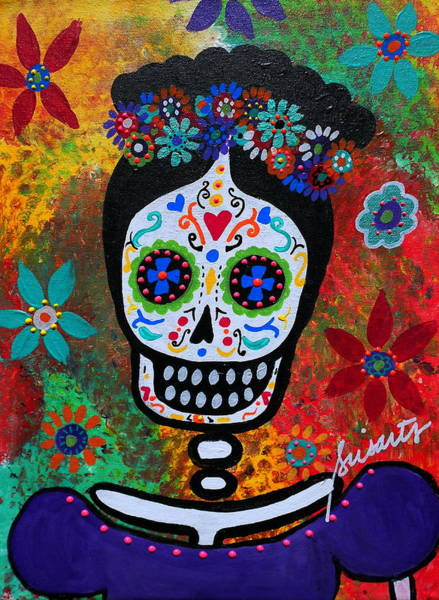 Wall Art - Painting - Frida Kahlo by Pristine Cartera Turkus