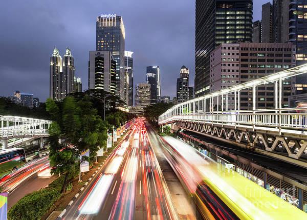 Photograph - Jakarta Night Rush by Didier Marti