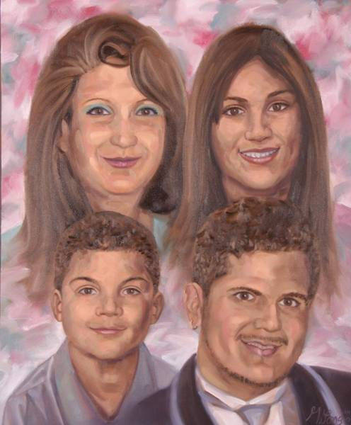 Painting - A Family Of Four by Gary M Long