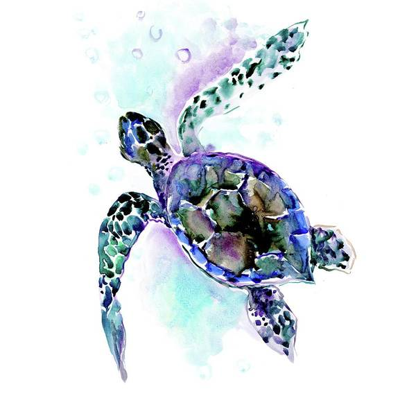 Wall Art - Painting - Sea Turtle by Suren Nersisyan