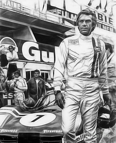 Wall Art - Mixed Media - Steve Mcqueen Collection by Marvin Blaine