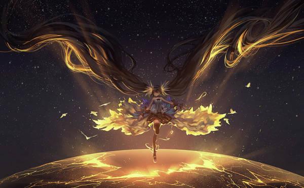 Night Digital Art - Vocaloid by Maye Loeser