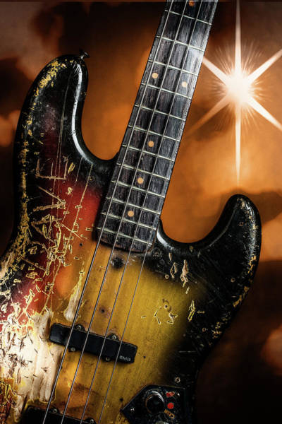 Photograph - 12.1834 011.1834c Jazz Bass 1969 Old 69 by M K Miller