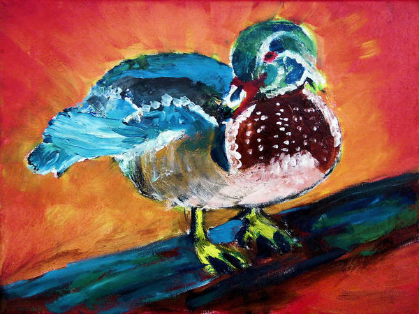 Painting - 122215 Male Wood Duck by Garland Oldham