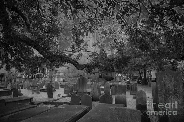 Photograph - Charleston Haunted Cemetery by Dale Powell