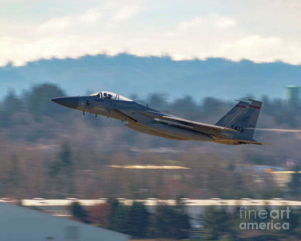 Vape Photograph - 123rd Fighter Squadron F-15c - City Of Tillamook - Heading Out by Joe Kunzler