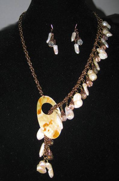 Freshwater Pearls Wall Art - Jewelry - 1240 Byzantine Pearl by Dianne Brooks