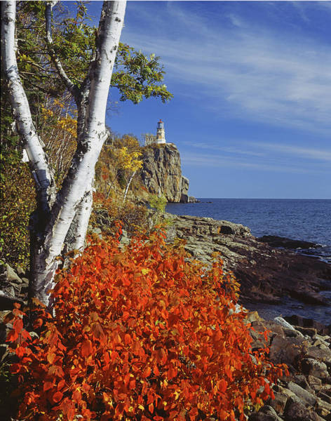 Photograph - 124322 Split Rock Lighthouse by Ed Cooper Photography