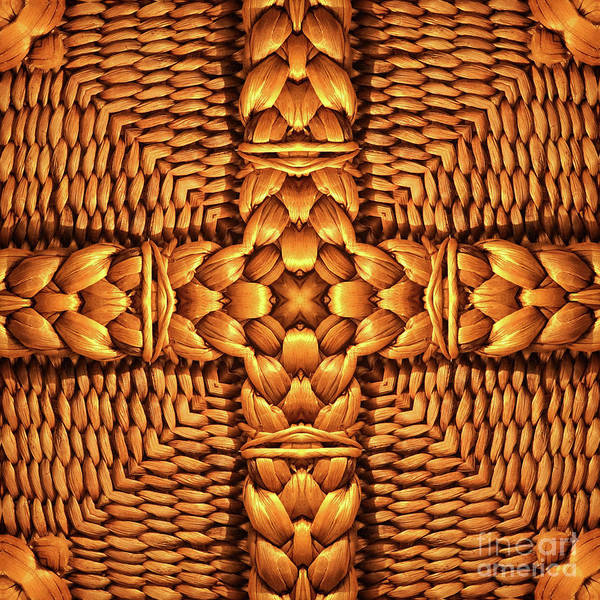 Wicker Basket Digital Art - Unique Design Pattern by Amy Cicconi
