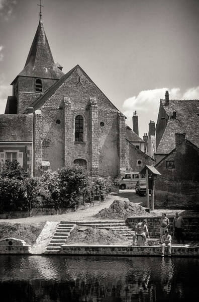 Angling Art Photograph - St. Silvester's Church, Malicorne-sur-sarthe, Sarthe, France by Mark Summerfield