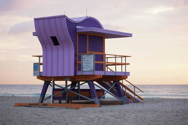 Wall Art - Photograph - 12th Street Lifeguard Tower by Art Block Collections