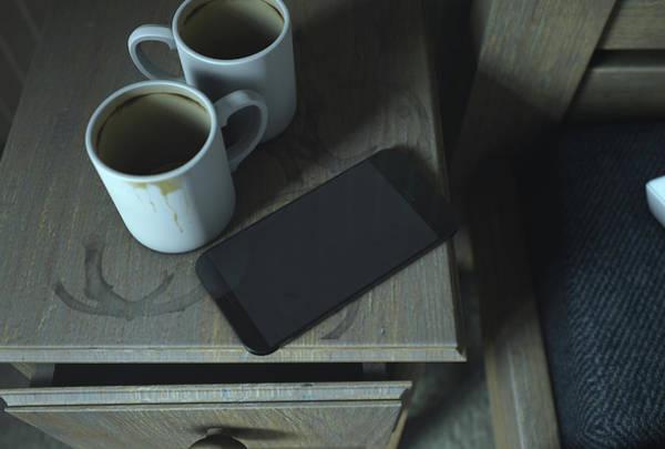 Wall Art - Digital Art - Bedside Table And Cellphone by Allan Swart