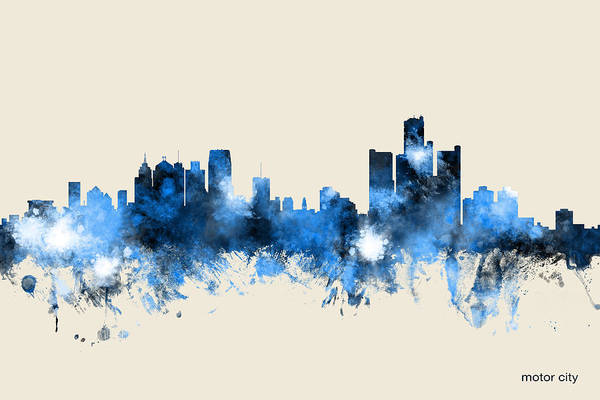 Detroit Michigan Skyline Art Print