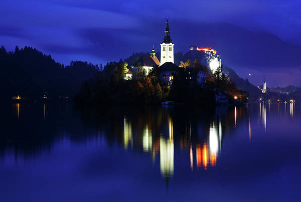 Wall Art - Photograph - Dusk Over Lake Bled by Ian Middleton