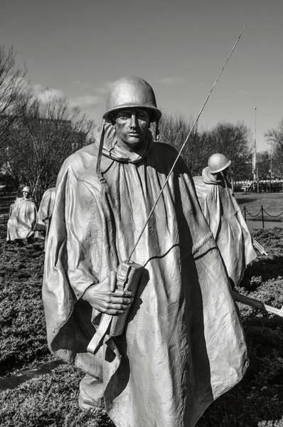 Photograph - Korean War Memorial by Brandon Bourdages