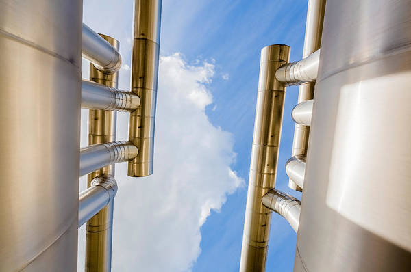 Landforms Photograph - Pipes At Nesjavellir Geothermal Power by Panoramic Images