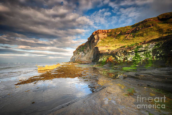 Yorkshire Wall Art - Photograph - Saltwick Bay by Smart Aviation