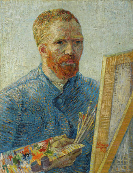 Serious Painting - Self-portrait With Straw Hat by Vincent van Gogh