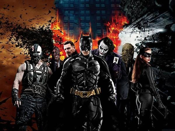 Supervillain Digital Art - The Dark Knight Rises 2012  by Geek N Rock