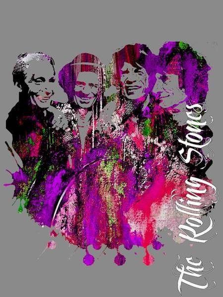 Wall Art - Mixed Media - The Rolling Stones Collection by Marvin Blaine