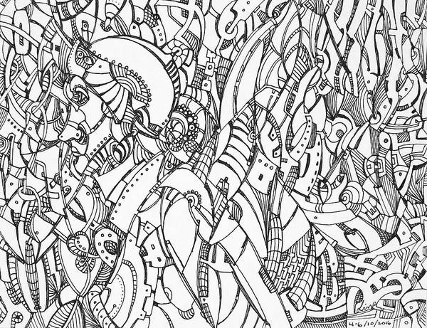 Drawing - Untitled 2016b012 by Lino Vicente