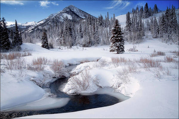 Wall Art - Photograph - Wasatch Mountains In Winter by Douglas Pulsipher