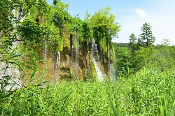 Photograph - Waterfall In Plitvice National Park In Croatia by Brandon Bourdages