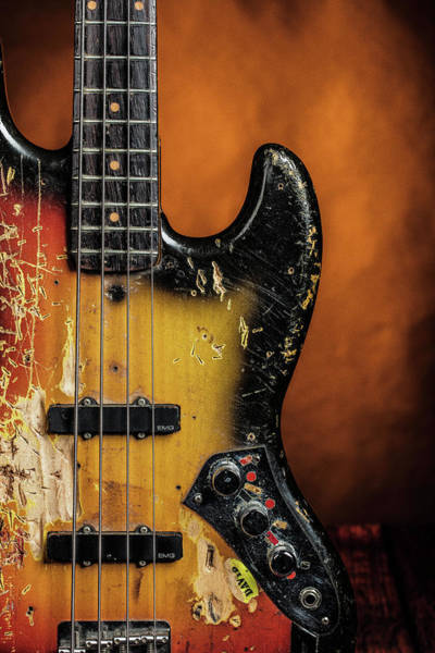 Photograph - 13.1834 011.1834c Jazz Bass 1969 Old 69 by M K Miller