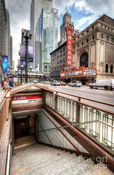 Wall Art - Photograph - 1333 Red Line Entrance by Steve Sturgill