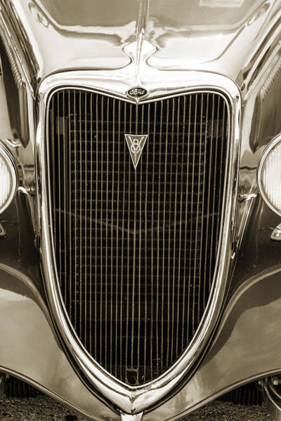 Photograph - 1934 Ford Sedan Antique Vintage Photograph Fine Art Print Collec by M K Miller