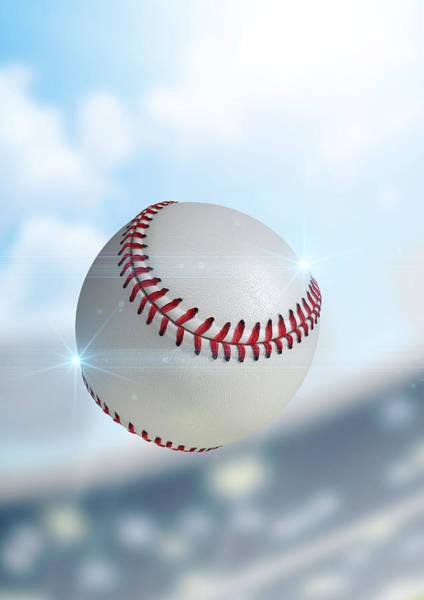 Pitch Digital Art - Ball Flying Through The Air by Allan Swart