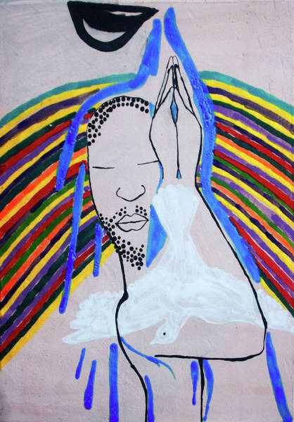 Painting - Baptism Of The Lord Jesus by Gloria Ssali
