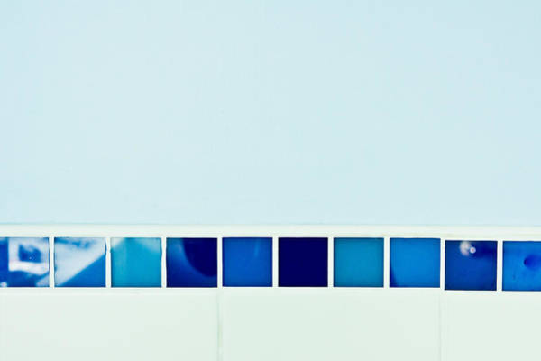 Glazed Tiles Photograph - Blue Tiles by Tom Gowanlock