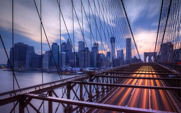 City Digital Art - Bridge by Super Lovely