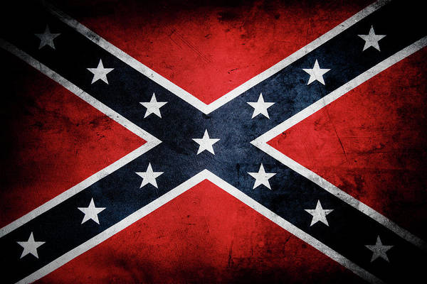 Wall Art - Photograph - Confederate Flag 13 by Les Cunliffe