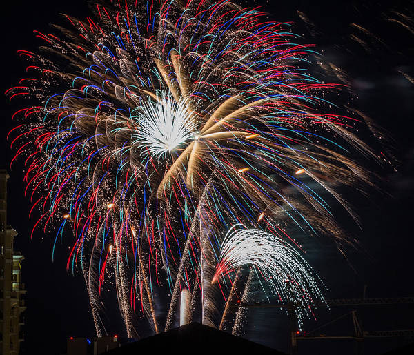 Photograph - Fireworks 2015 Sarasota 24 by Richard Goldman
