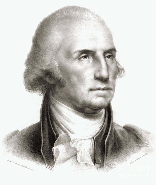 Etching Drawing - George Washington by Rembrandt Peale