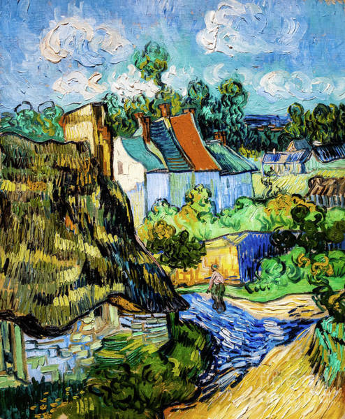 Painting - Houses At Auvers by Vincent Van Gogh