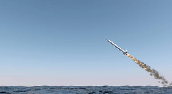 Assault Weapons Digital Art - Intercontinental Ballistic Missile by Allan Swart