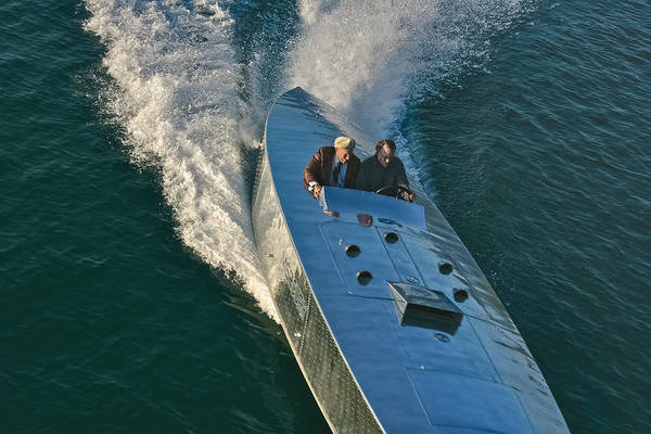 Photograph - Mercury Race Boat by Steven Lapkin