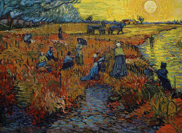 Vincent Van Gogh Painting - The Red Vineyard by Jerzy Lisak