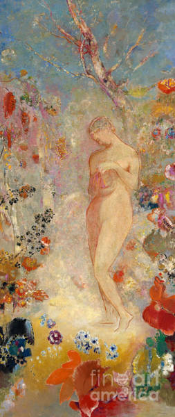 Mythology Painting - Pandora by Odilon Redon