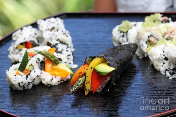Photograph - Sushi California Roll by Henrik Lehnerer