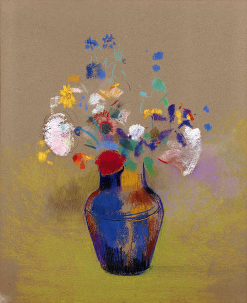 Rosaceae Wall Art - Painting - Vase Of Flowers by Odilon Redon