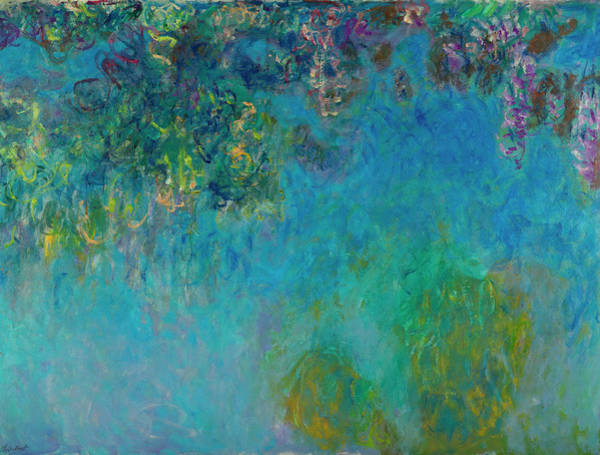 Plant Reproduction Painting - Wisteria by Claude Monet