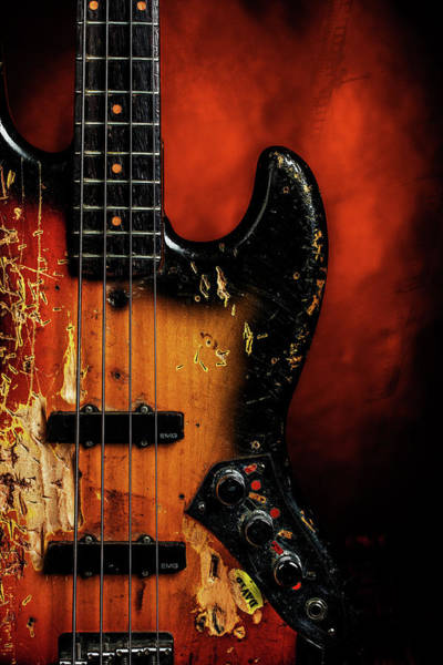 Photograph - 14.1834 011.1834c Jazz Bass 1969 Old 69 by M K Miller