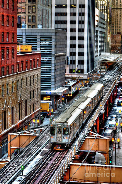 Wall Art - Photograph - 1436 Elevated Train Chicago by Steve Sturgill