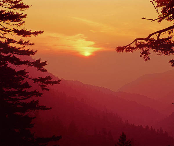 Photograph - 145921 Ea Sunset At Newfound Gap by Ed Cooper Photography