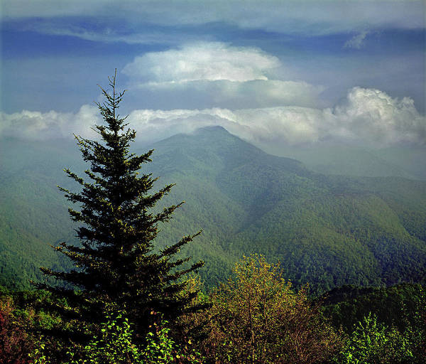 Photograph - 146216 Clouds Over Mt. Mitchell by Ed Cooper Photography