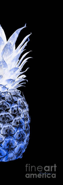 Photograph - 14jr Artistic Glowing Pineapple Digital Art Blue by Ricardos Creations